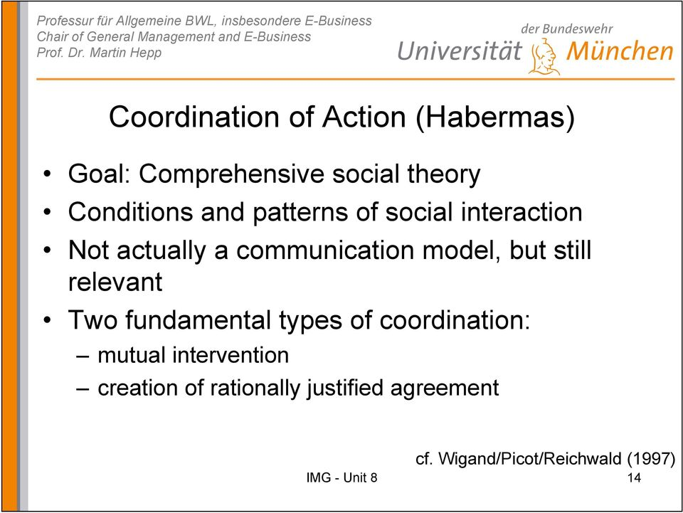 communication model, but still relevant Two fundamental types of