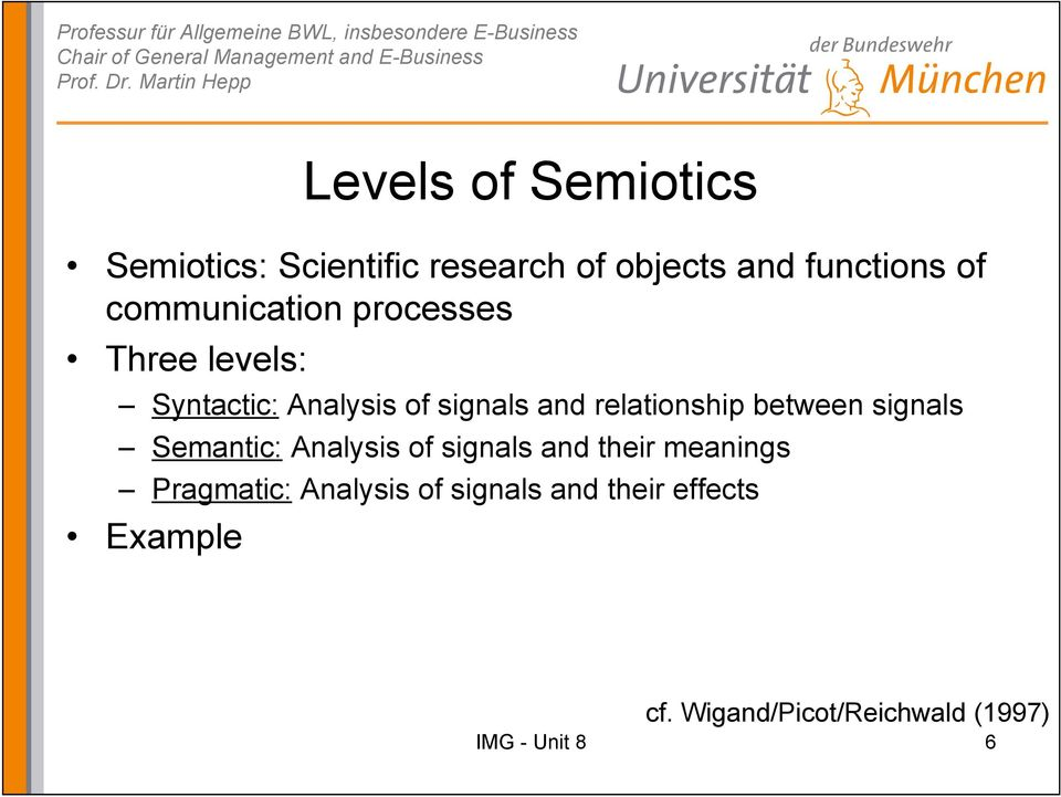 relationship between signals Semantic: Analysis of signals and their