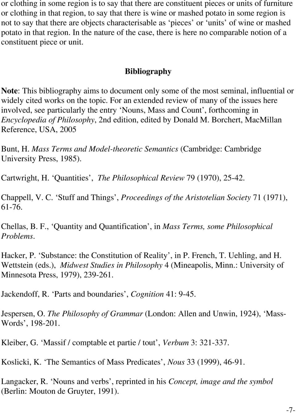 Bibliography Note: This bibliography aims to document only some of the most seminal, influential or widely cited works on the topic.