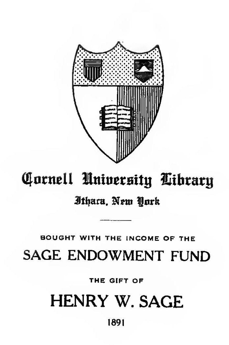 THE INCOME OF THE SAGE ENDOWMENT
