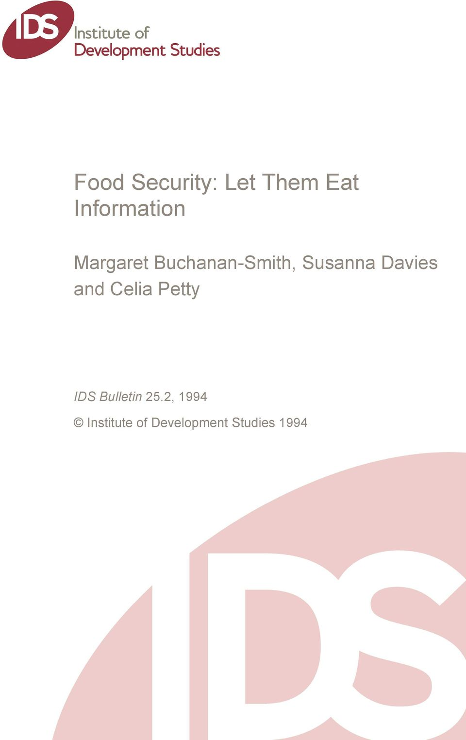 and Celia Petty IDS Bulletin 25.
