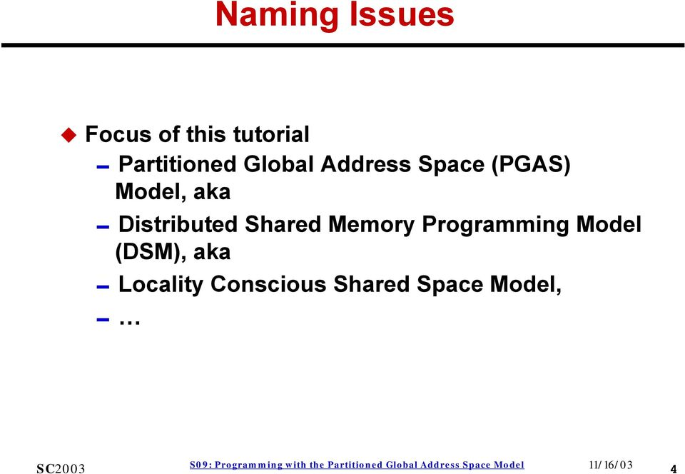 Model, aka 0Distributed Shared Memory