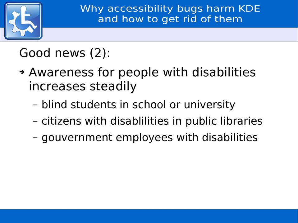 school or university citizens with disablilities