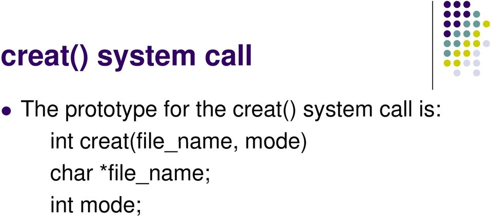 system call is: int
