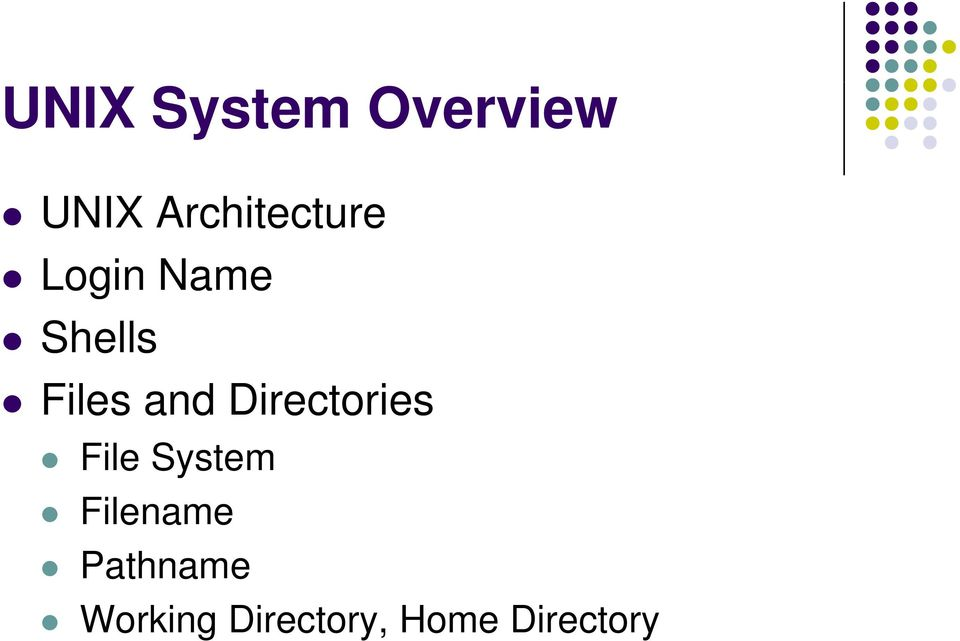 Files and Directories File System