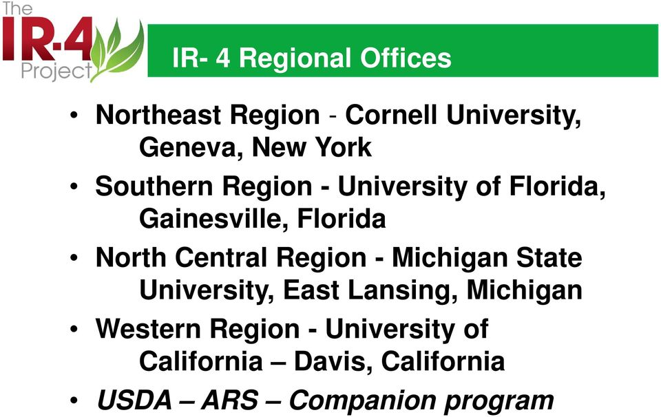 Central Region - Michigan State University, East Lansing, Michigan Western