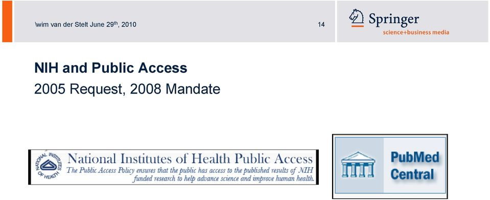 NIH and Public Access