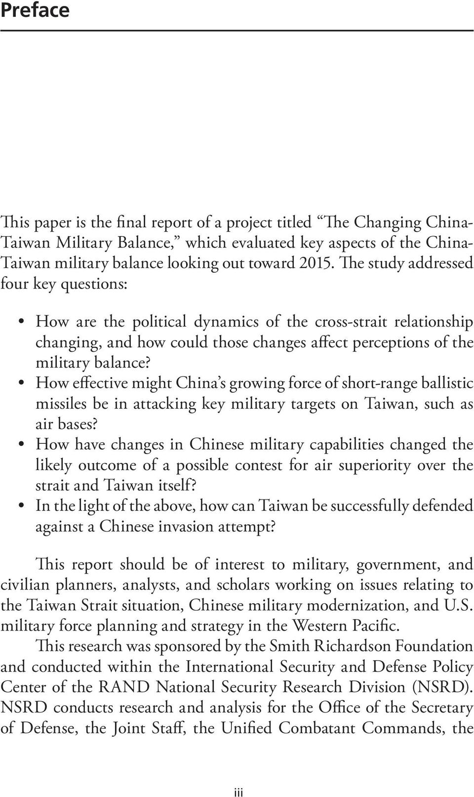 How effective might China s growing force of short-range ballistic missiles be in attacking key military targets on Taiwan, such as air bases?