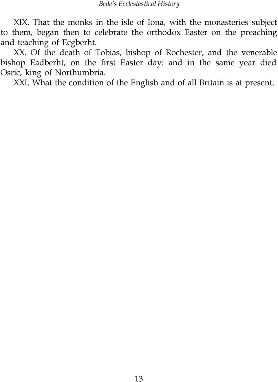 Of the death of Tobias, bishop of Rochester, and the venerable bishop Eadberht, on the first Easter
