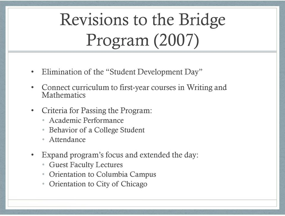 Academic Performance Behavior of a College Student Attendance Expand program s focus and