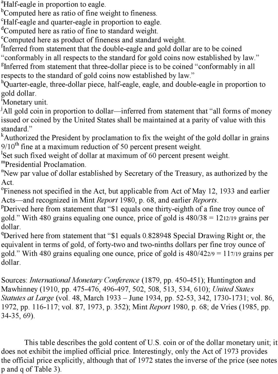 f Inferred from statement that the double-eagle and gold dollar are to be coined conformably in all respects to the standard for gold coins now established by law.
