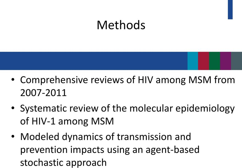 epidemiology of HIV-1 among MSM Modeled dynamics of