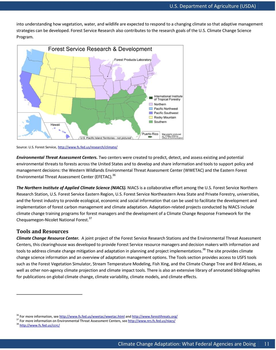 us/research/climate/ Environmental Threat Assessment Centers.