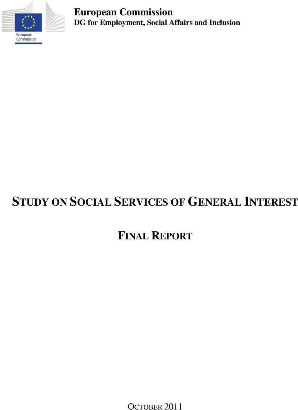 Inclusion STUDY ON SOCIAL SERVICES