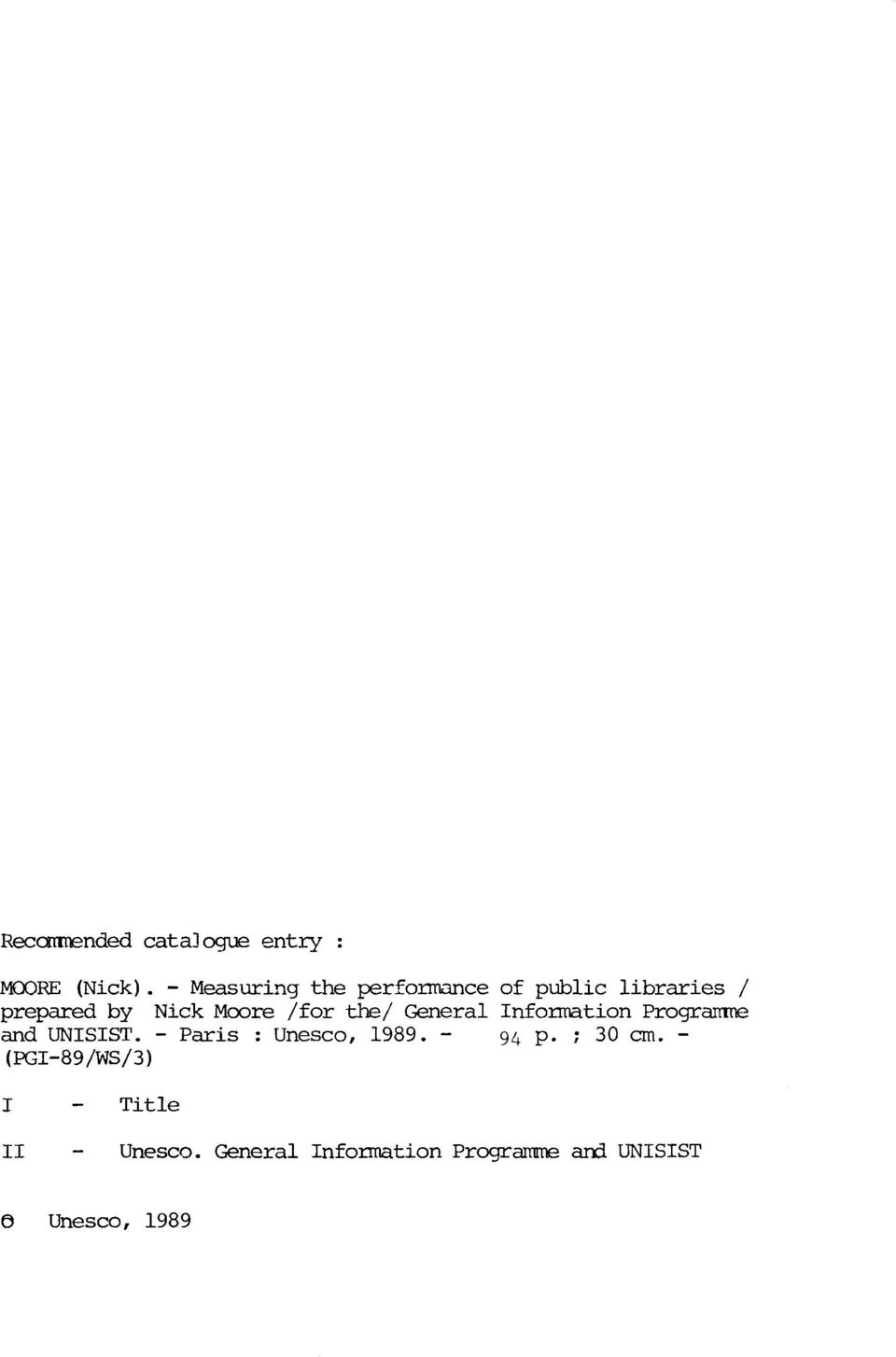 the/ General Information Programne and UNISIST. - Paris : Unesco, 1989.