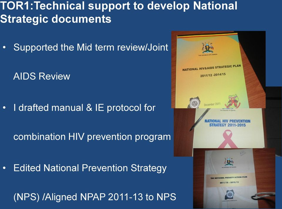 manual & IE protocol for combination HIV prevention program