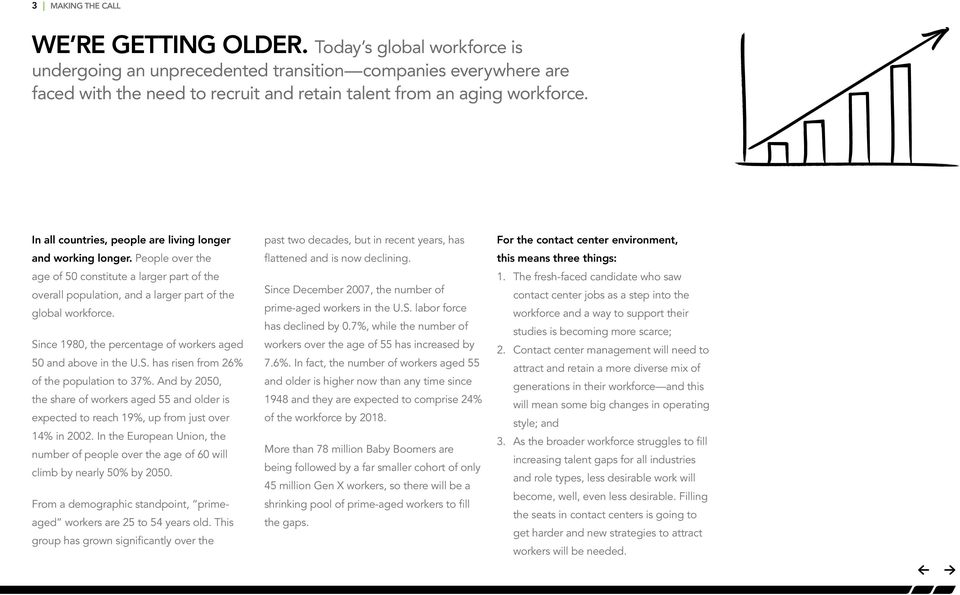 In all countries, people are living longer and working longer. People over the age of 50 constitute a larger part of the overall population, and a larger part of the global workforce.