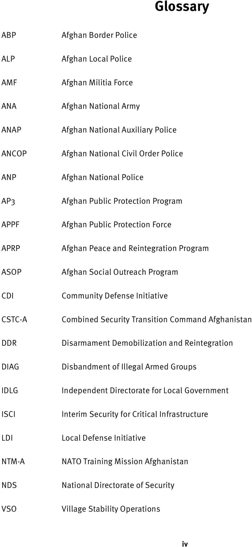 Social Outreach Program Community Defense Initiative Combined Security Transition Command Afghanistan Disarmament Demobilization and Reintegration Disbandment of Illegal Armed Groups Independent