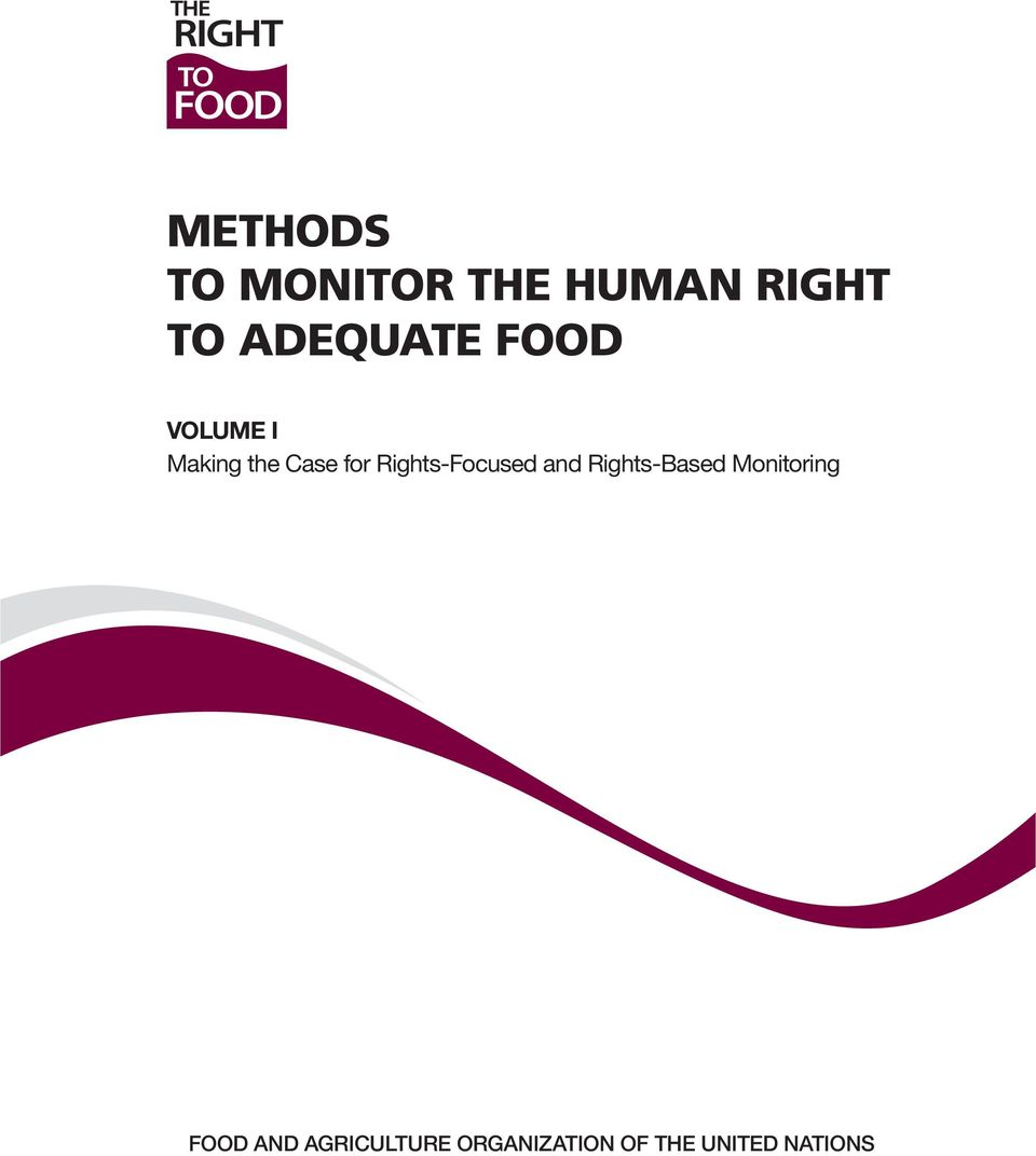Rights-Focused and Rights-Based Monitoring