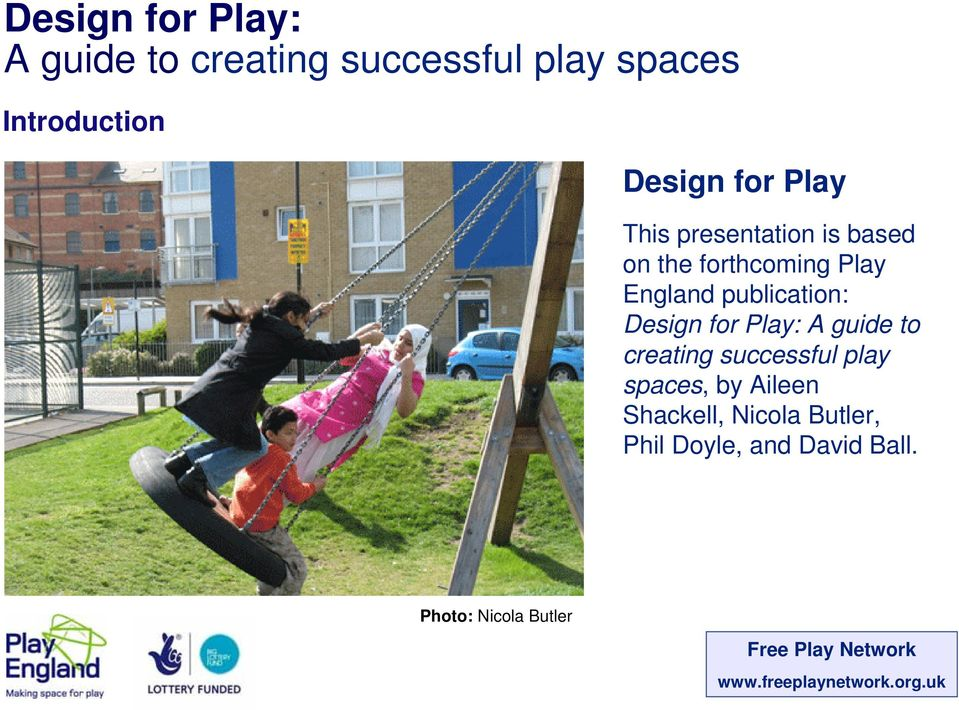 creating successful play spaces, by Aileen Shackell, Nicola
