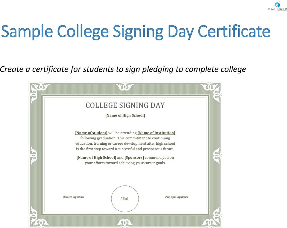 certificate for students to