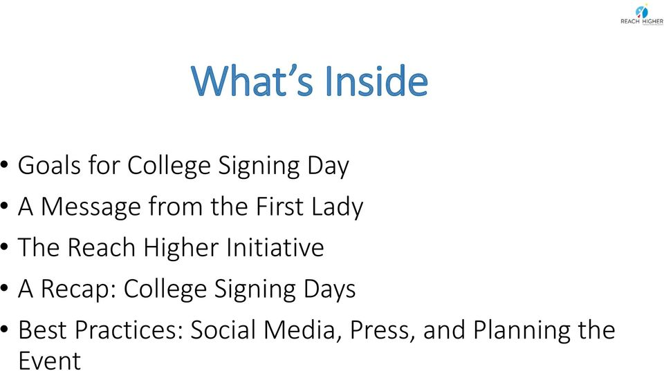 Initiative A Recap: College Signing Days Best
