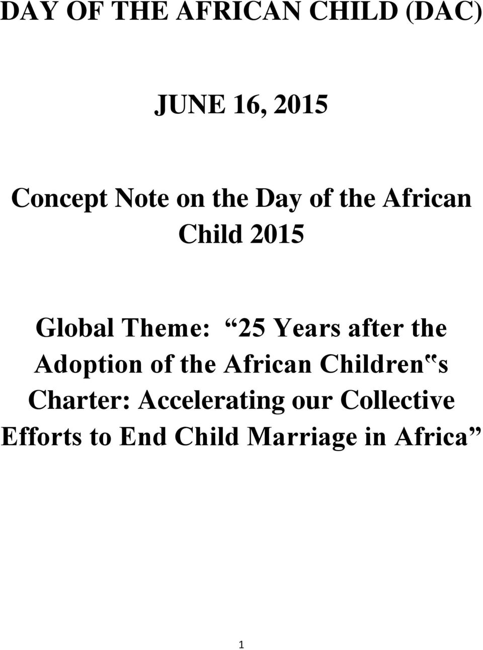 after the Adoption of the African Children s Charter: