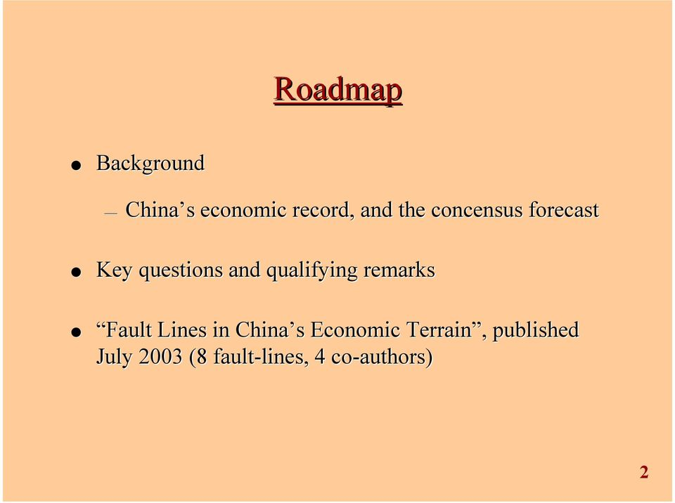 remarks Fault Lines in China s Economic Terrain,