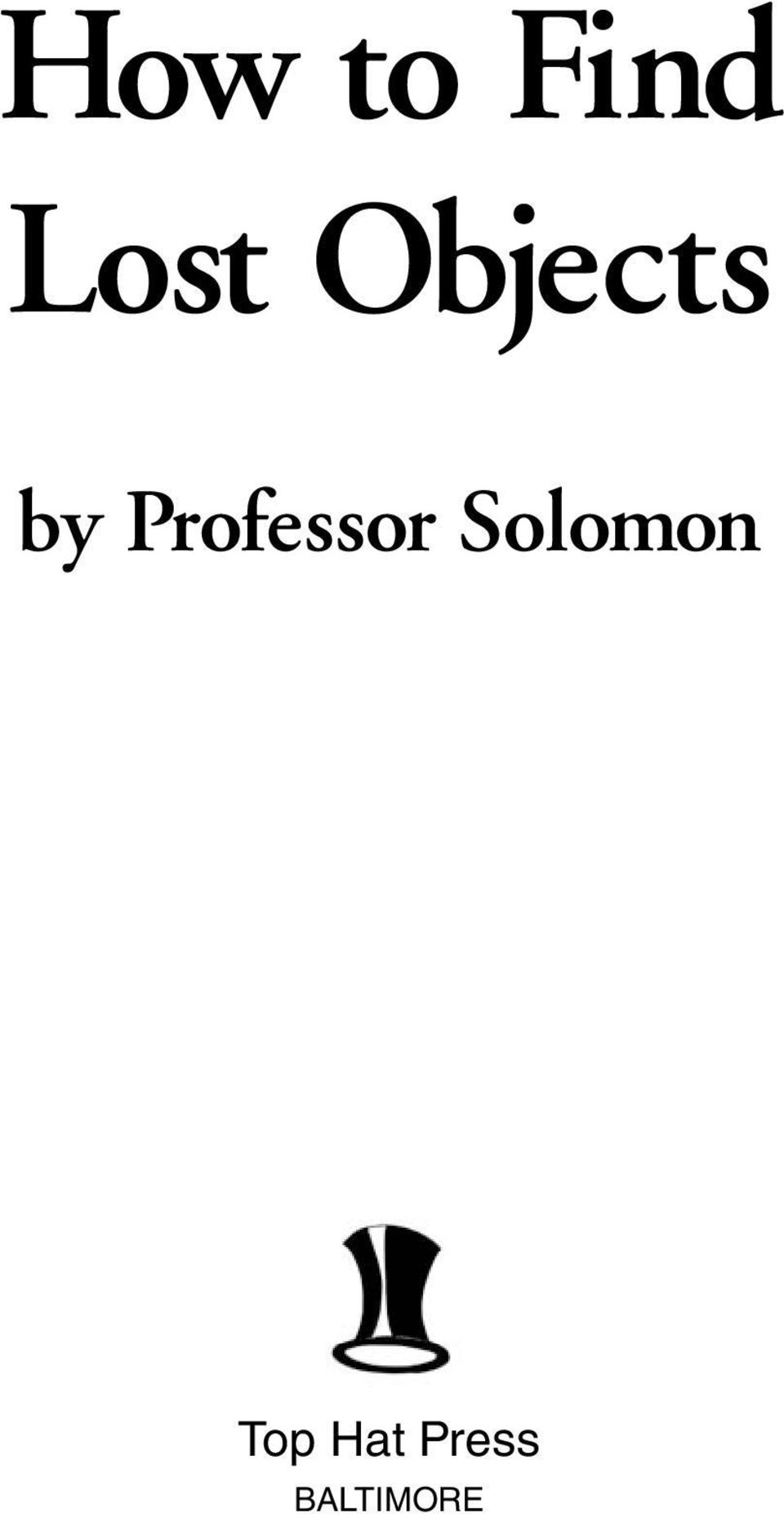 Professor Solomon