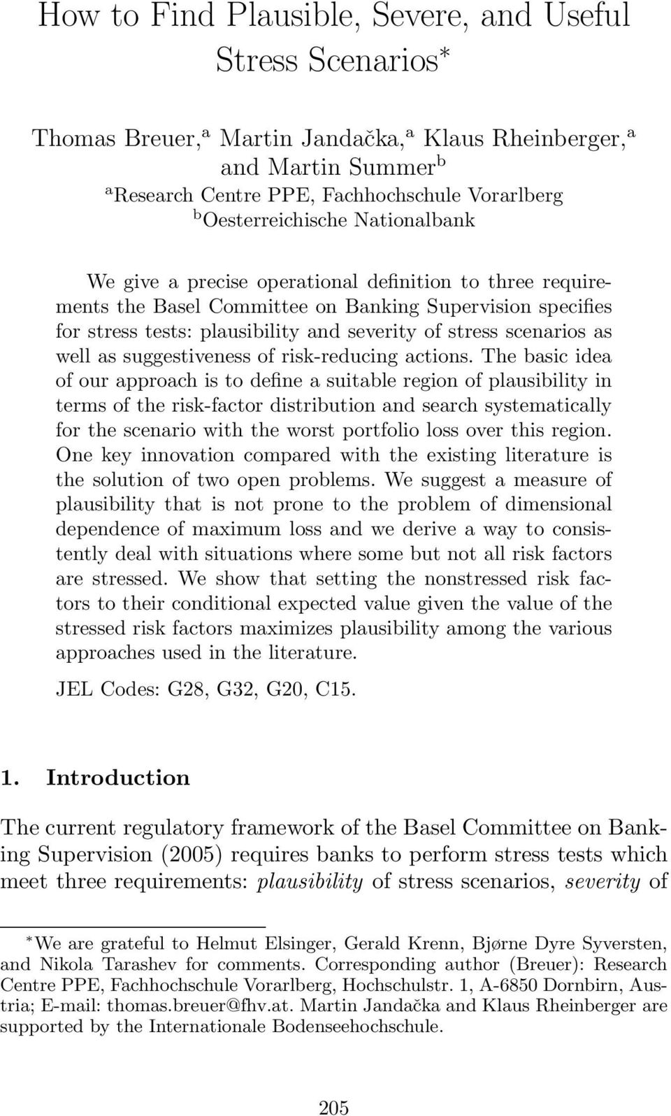 scenarios as well as suggestiveness of risk-reducing actions.