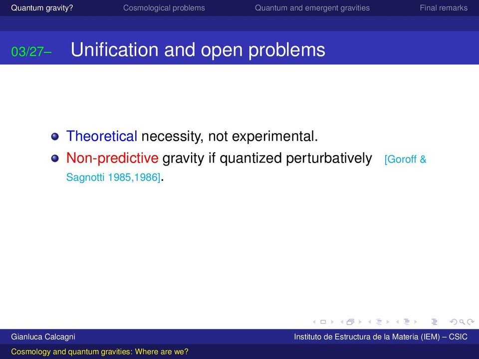 Non-predictive gravity if quantized