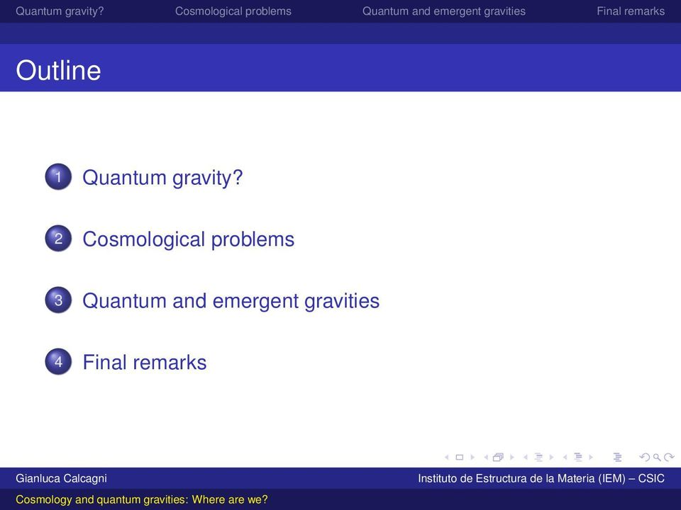 2 Cosmological problems