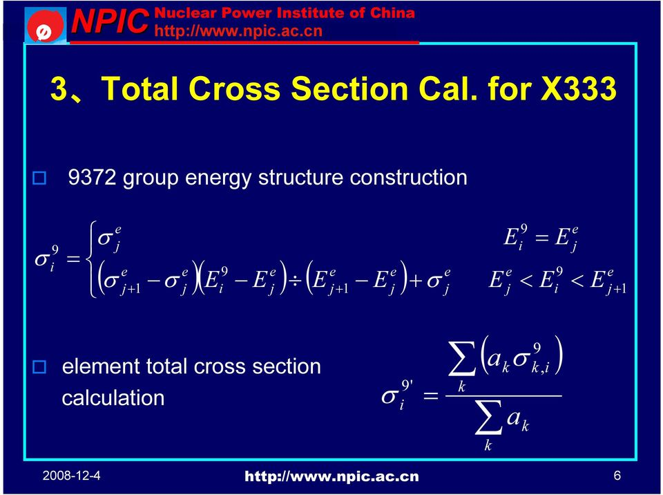 for X333 372 group energy structure constructon element total