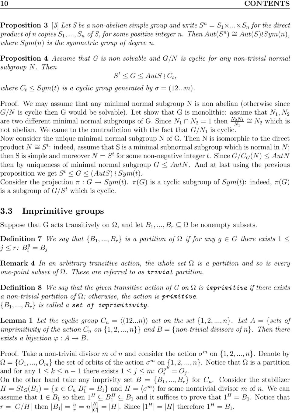 Then S t G AutS C t, where C t Sym(t) is a cyclic group generated by σ = (12...m). Proof.