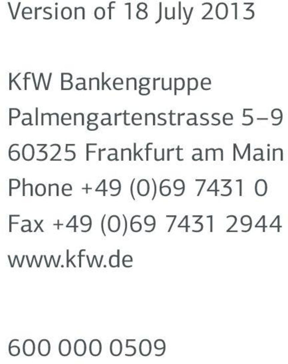 Frankfurt am Main Phone +49 (0)69 743