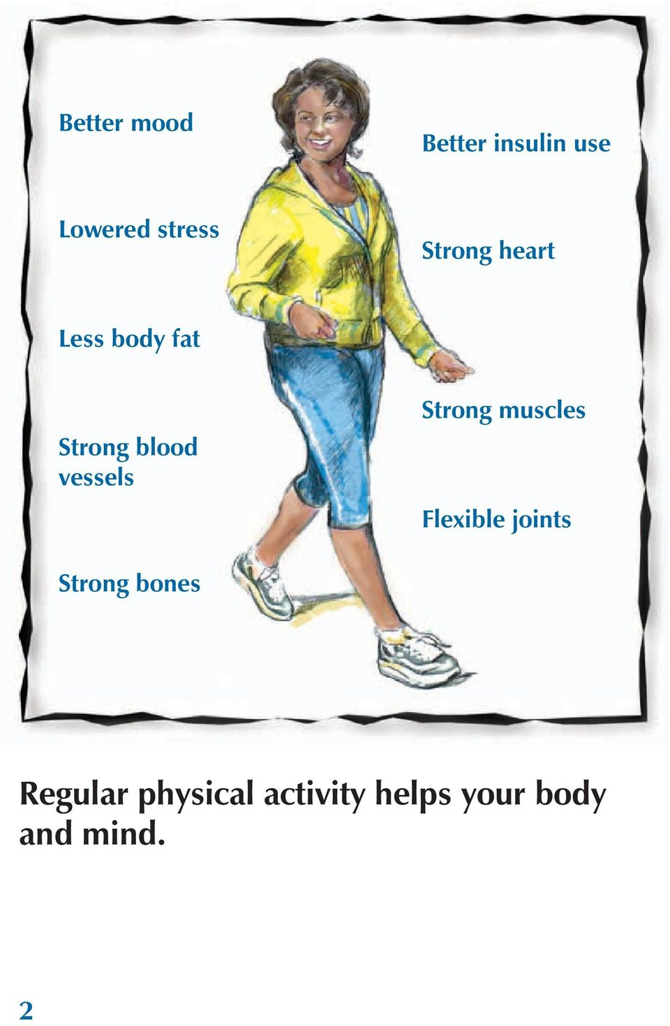 Strong muscles Flexible joints Strong bones