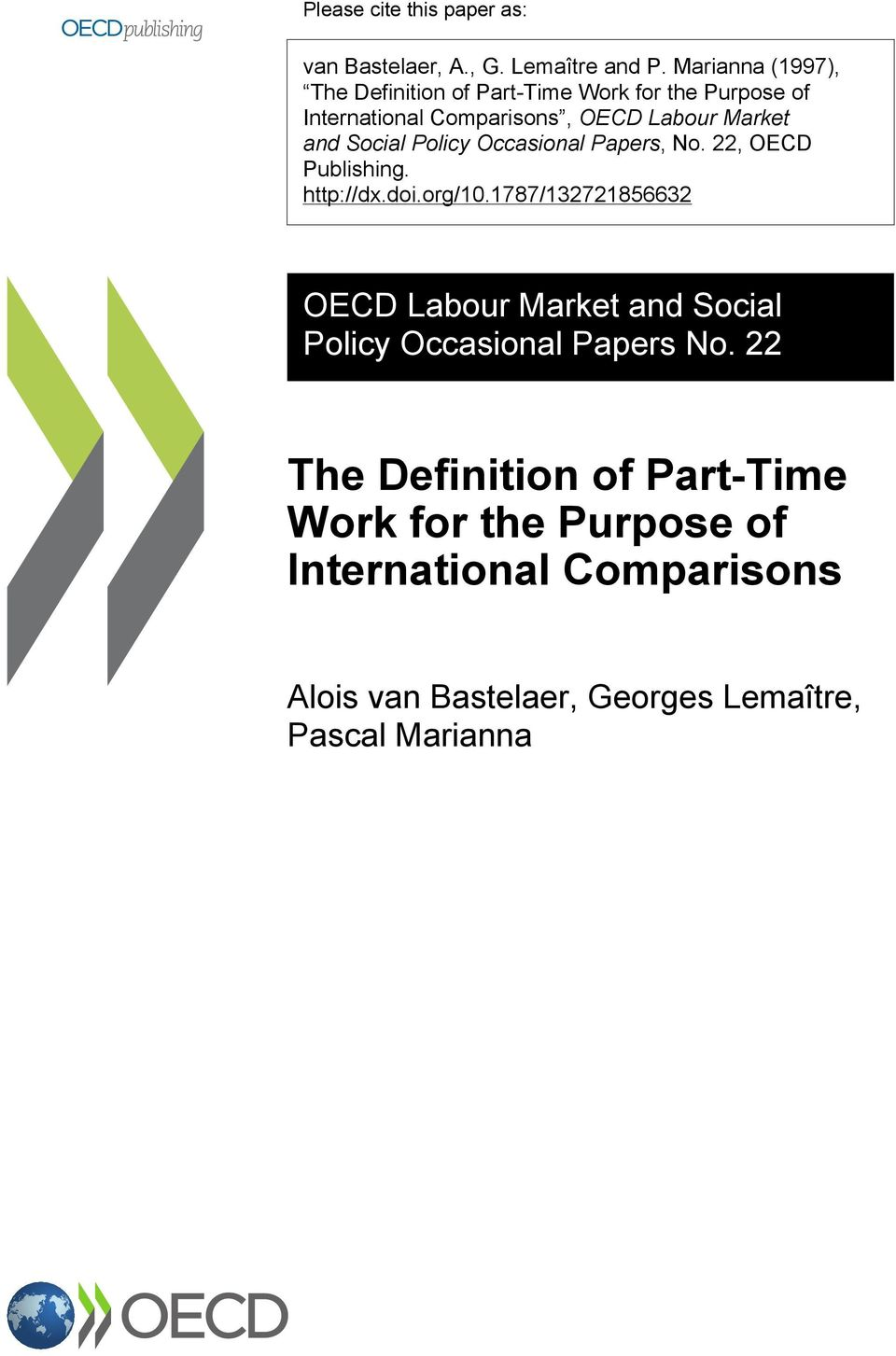 Social Policy Occasional Papers, No. 22, OECD Publishing. http://dx.doi.org/10.