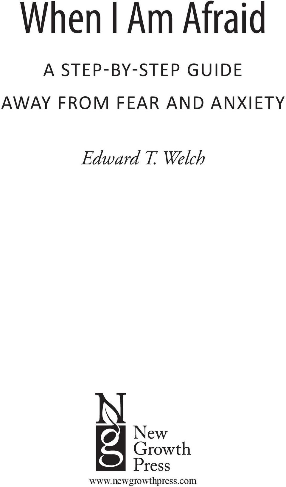 from Fear and Anxiety