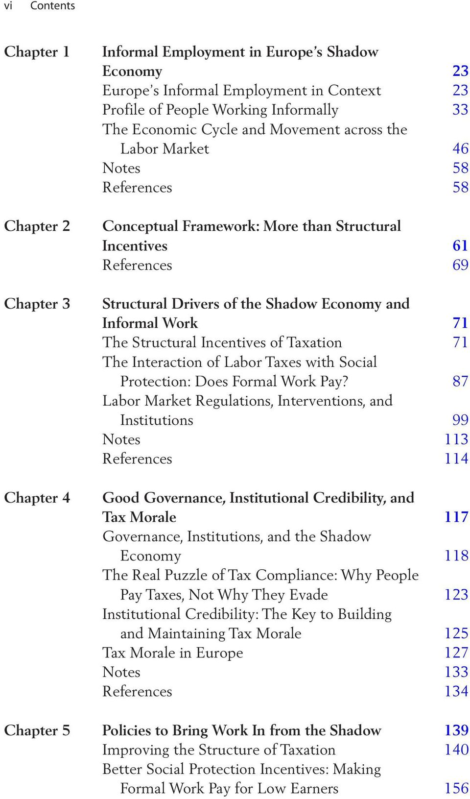 71 The Structural Incentives of Taxation 71 The Interaction of Labor Taxes with Social Protection: Does Formal Work Pay?