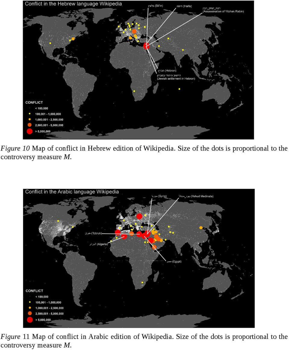 M. Figure 11 Map of conflict in Arabic edition of Wikipedia.