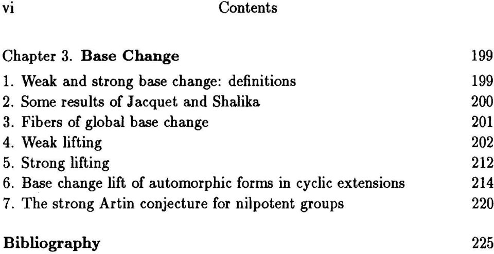 Some results of Jacquet and Shalika 200 3. Fibers of global base change 201 4.