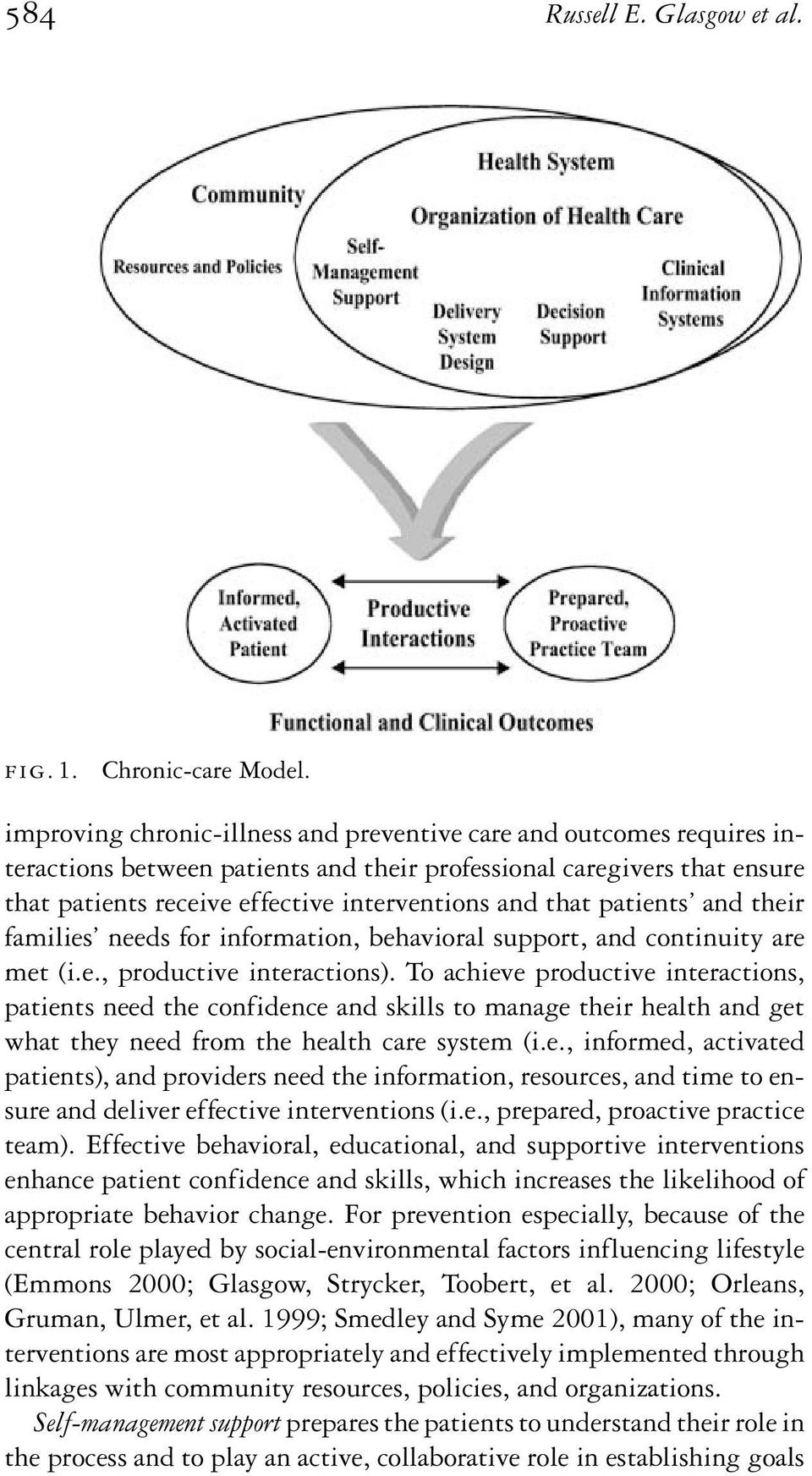 patients and their families needs for information, behavioral support, and continuity are met (i.e., productive interactions).