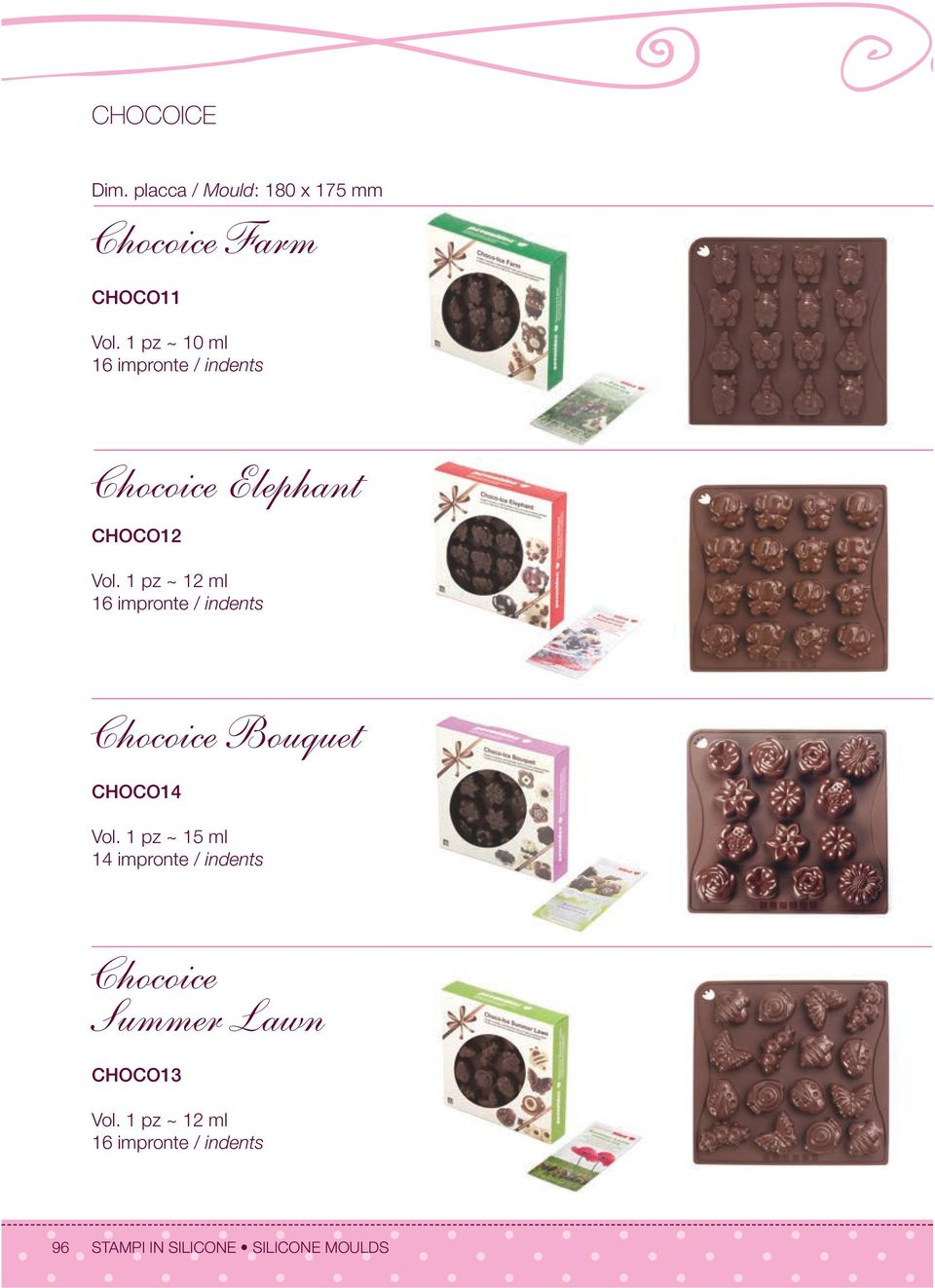 1 pz ~ 12 ml 1 Chocoice Bouquet CHOCO14 Vol.