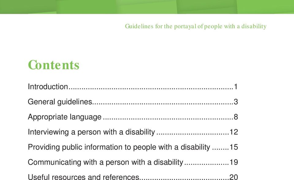 ..8 Interviewing a person with a disability.