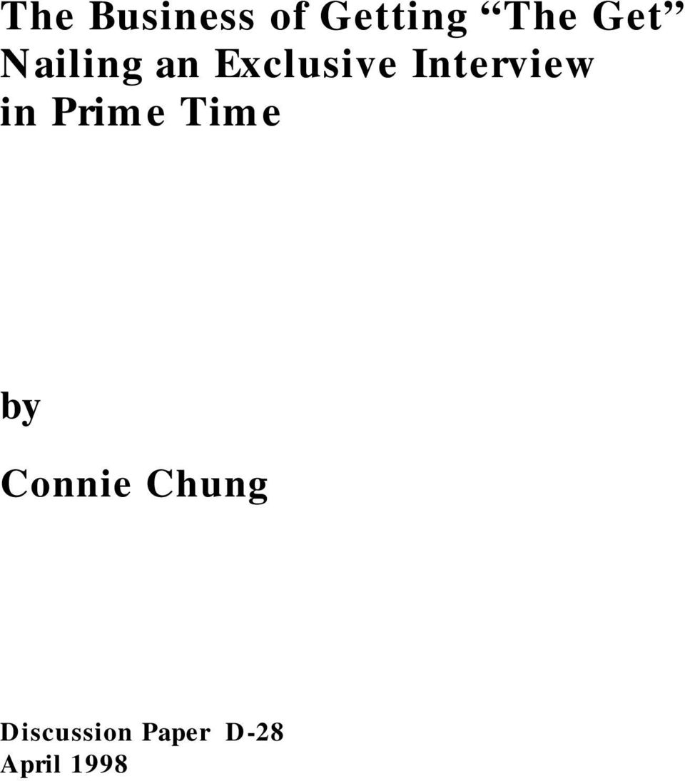 in Prime Time by Connie Chung