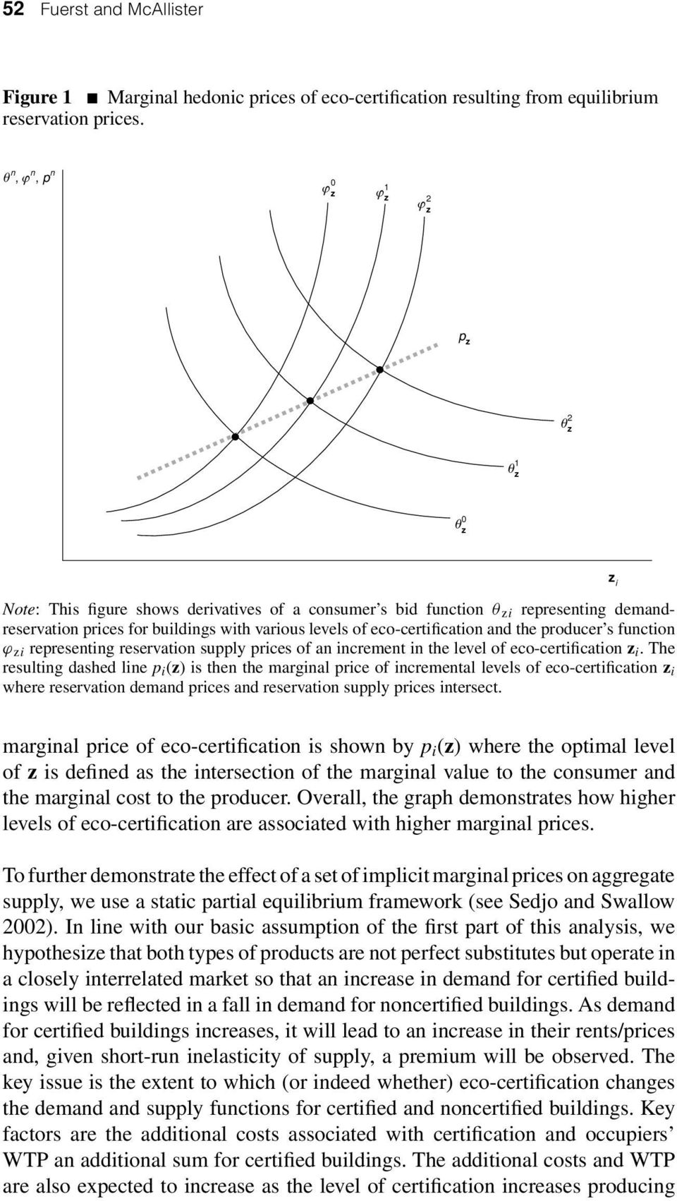 eco-certification and the producer s function ϕ zi representing reservation supply prices of an increment in the level of eco-certification z i.