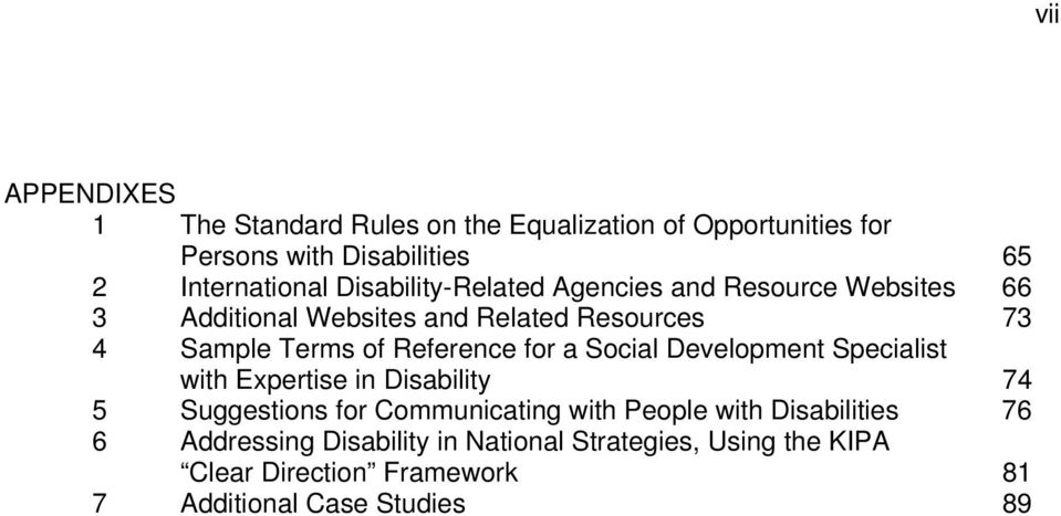 Reference for a Social Development Specialist with Expertise in Disability 74 5 Suggestions for Communicating with People