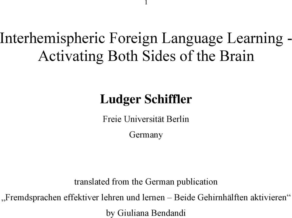 Germany translated from the German publication Fremdsprachen