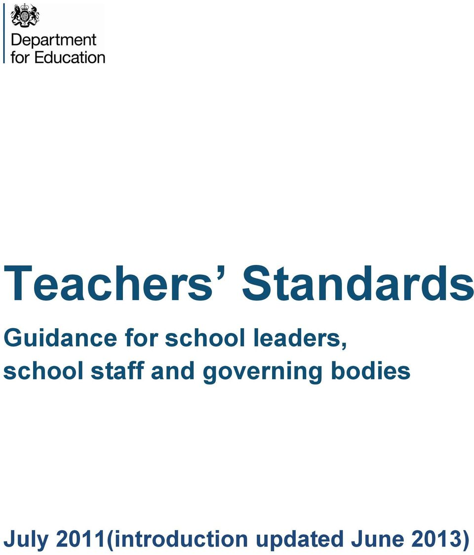 staff and governing bodies