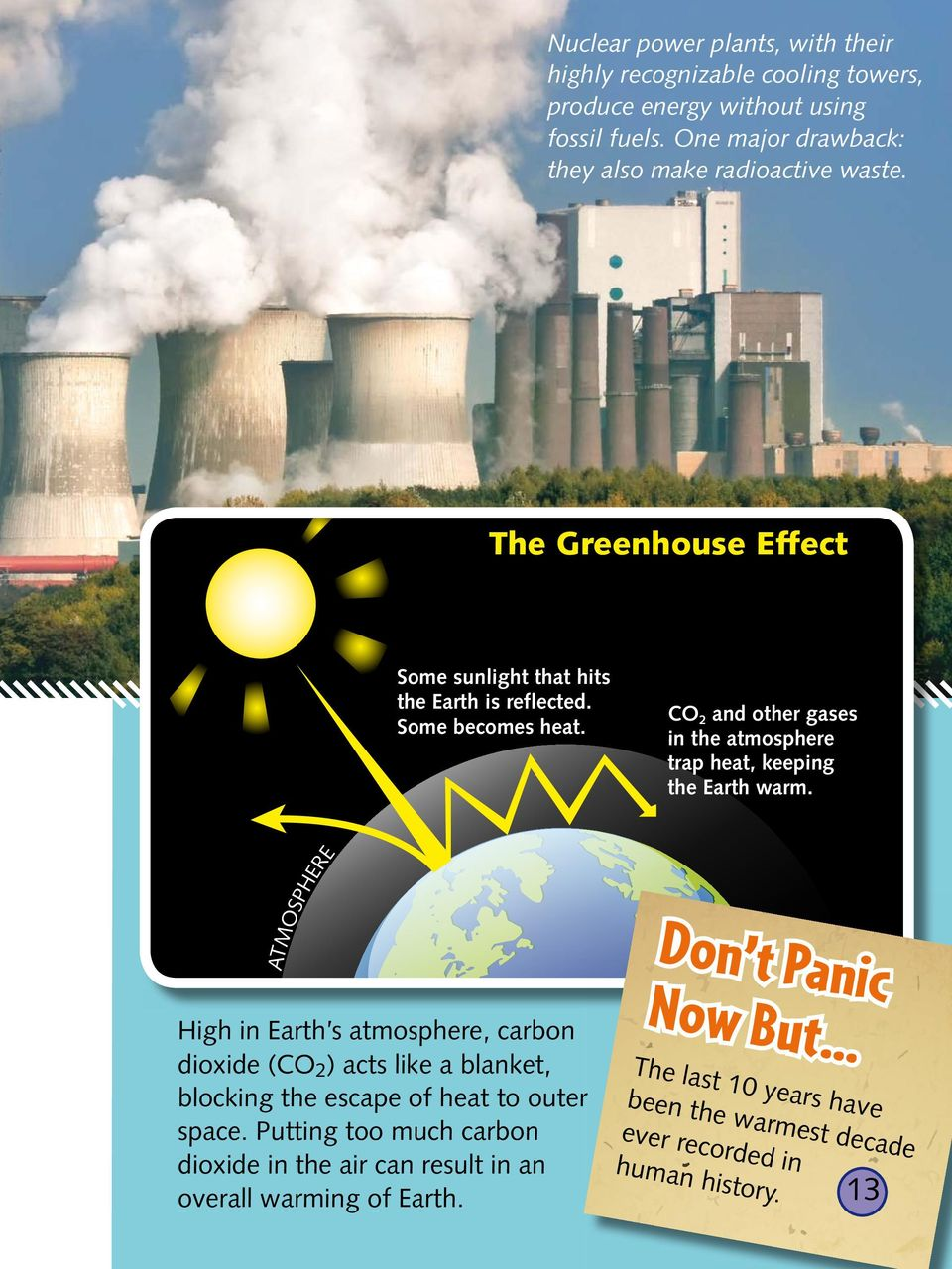 .. CO2 and other gases in the atmosphere trap heat, keeping the Earth warm. Don t Pan i c N ow B u t.